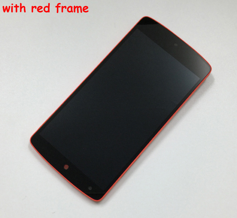 For LG Nexus 5 LCD Display Touch Screen Digitizer Assembly with Frame  Replacement for LG Google Nexus 5 D820 D821