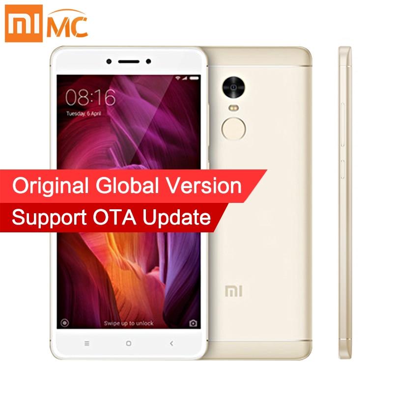 Versión global xiaomi redmi Nota 4 Qualcomm 3 GB 32 GB smartphone Snapdragon 625 octa Core 13.0MP Cámara soporte de huellas dactilares OTA