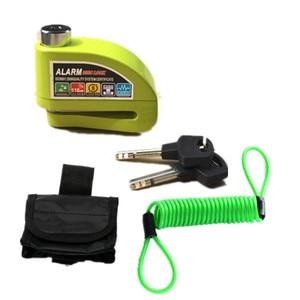 Free Shipping waterproof motorcycle alarm lock bike lock security anti-theft lock moto disc brake lock +bag+Reminder rope(China)