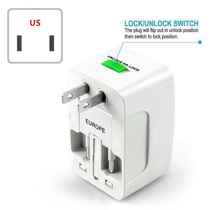 US AU NZ Europe /& Universal AC Worldwide Travel Adapter Converter Power Plug