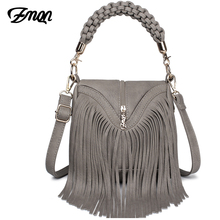 ZMQN Women Messenger Bags Leather Handbags Tassel Famous Brands For Ladies Retro Vintage Cross Body Bags Small Triangle New A527