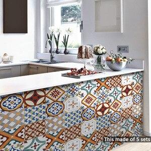 Image 3 - Funlife イスラムトルコタイルステッカー、防水浴室のステッカー、自己粘着装飾キッチンタイル壁の家具のステッカー