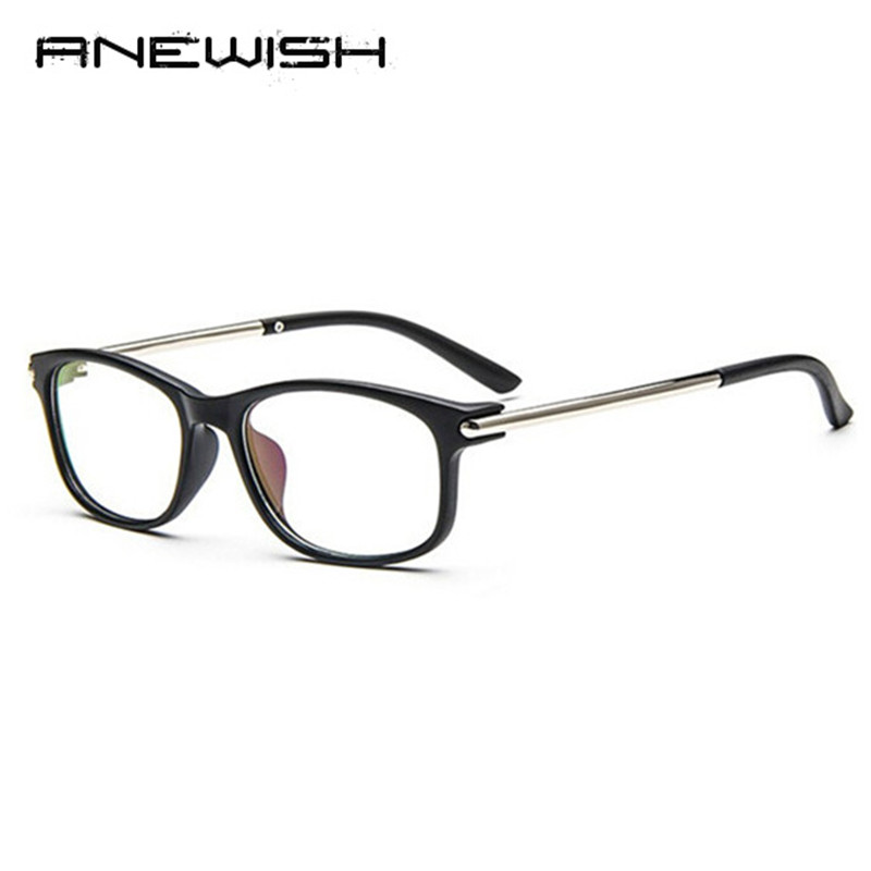 anewish 2017 newest eyewear women vintage brand designer frame men retro flat clear lens optical eyeglasses