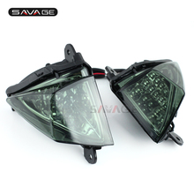 For KAWASAKI ZX-14R 2006-2012  Smoke Motorcycle Front LED Turn Signal Indicator Lights Blinker