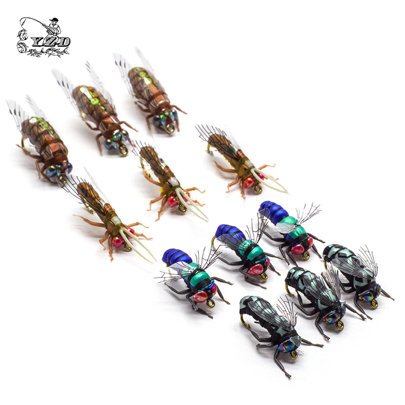 Hot Dry Fly Fiskeflugor Set Fly Fibre Kit Lure for Rainbow Frog Flies 8 # 10 # 12 # Mönster Sortiment Fiskefiske