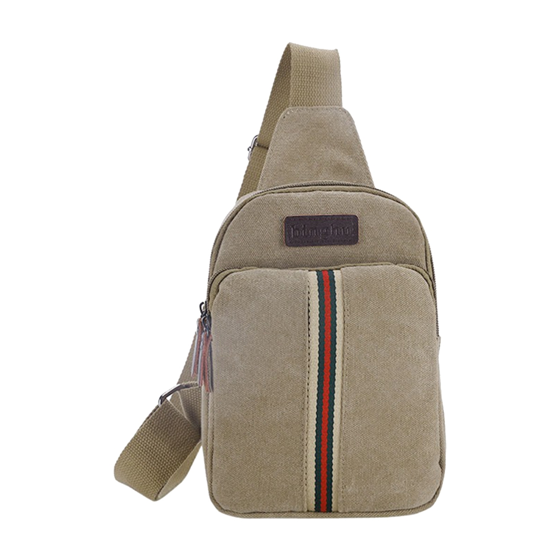 Crossbody Chest Bag Pack Bag Canvas Single Shoulder Shoulder Strap Pack Fashion