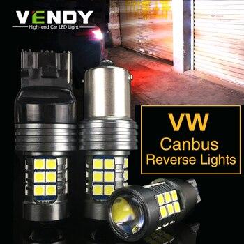 цена на 1pcs Car LED Reverse Light Canbus Lamp W16W T15 BA15S P21W W21W For VW Passat B7 B6 Golf 6 7 5 4 mk2 3 Touran Polo touareg jetta