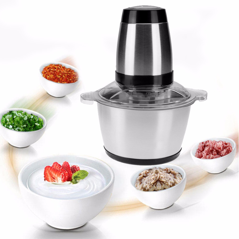 2L 350W Household Electric Meat Grinder Sausage Maker Meat Mincer Vegetable cutter garlic machine Two files PC EU/US/UK Plug