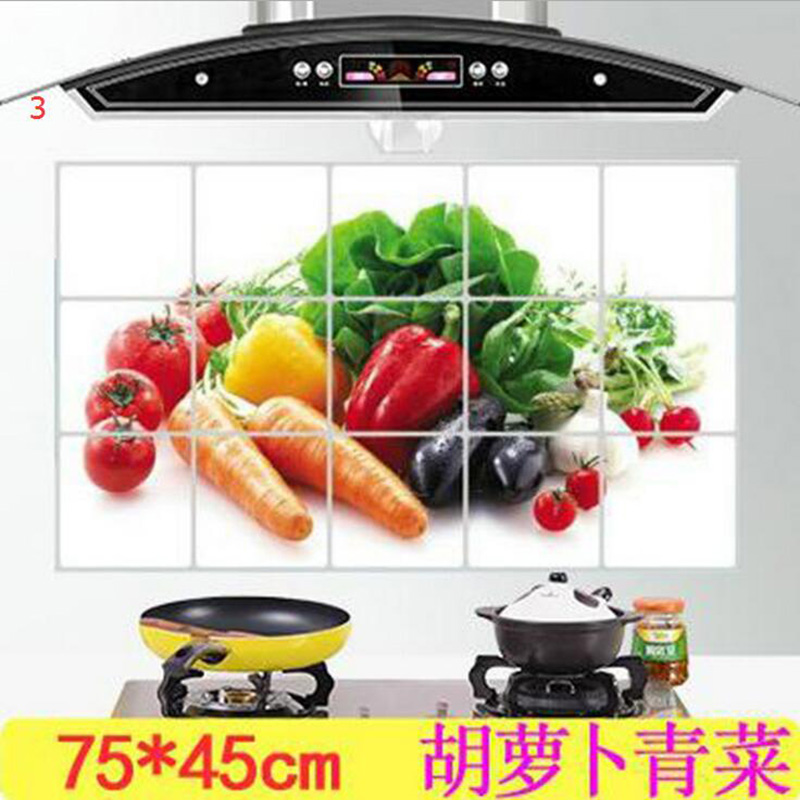 HTB18ytyOXXXXXcsapXXq6xXFXXX9 - kitchen Anti-smoke Decorative wall sticker Resistant to high aluminum foil tiles cabinet