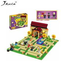 [Jkela] 2018 New2 plantas de estilo vs zombies Set Anime Garden Maze Struck Juego Building Blocks Ladrillos Compatible con Legoingly gif