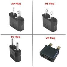 1pc eua/ue/reino unido/au para eua/ue/reino unido/au plug adaptador de energia universal viagem adaptador de tomada de energia conversor carregador de parede freeshipping