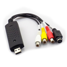 Dispositivo USB 2.0 Adaptador de captura de vídeo usb S-video DC60 TV DVD VHS fácil Tapa mmm AV de Audio usb Tarjeta de vídeo graber Dispositivo Grabador DVR