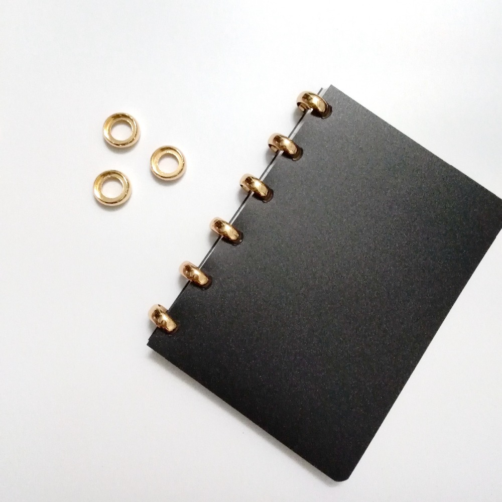 6Pcs/Lot Metal Disc Round Buckle Mushroom Hole 18mm Binding Disc Loose Book A4/A5 Binding Sheet Stationery Office Supplies