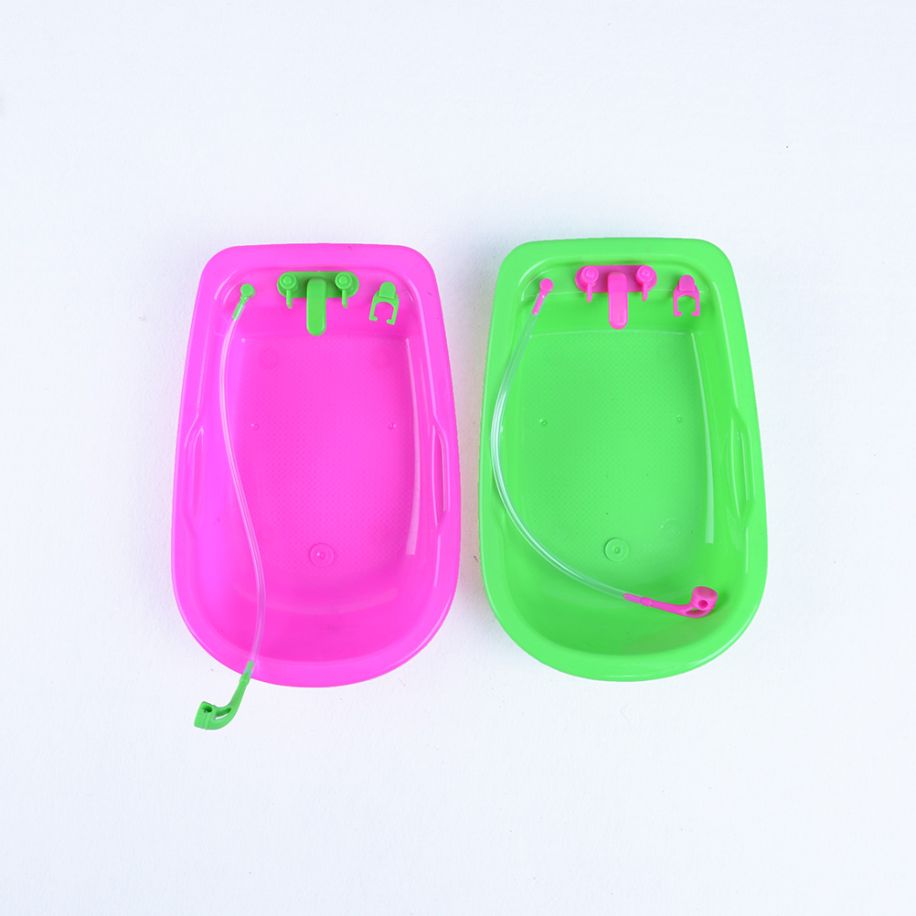 mobili cute baby bagno vasca da bagno per barbie accessaries play house decor baby toy play