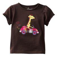 12M 4T Jumping Beans Girls T Shirt Summer Cartoon Giraffe T Shirt Toddler Girls Tops Girl