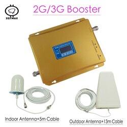 Wyświetlacze LCD 3G GSM regenerator sygnału 900MHz UMTS 2100MHz 2G 3G dwuzakresowy komórka wwmacniacz sygnału telefonu dwuzakresowy wzmacniacz