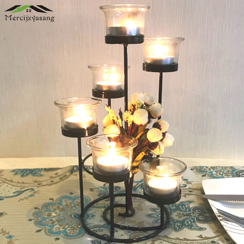 Candle Holder Table Metal Candlestick Geometric Retro Candle Holders Romantic for Wedding/Dinner Decoration Candelabra GZT086 1