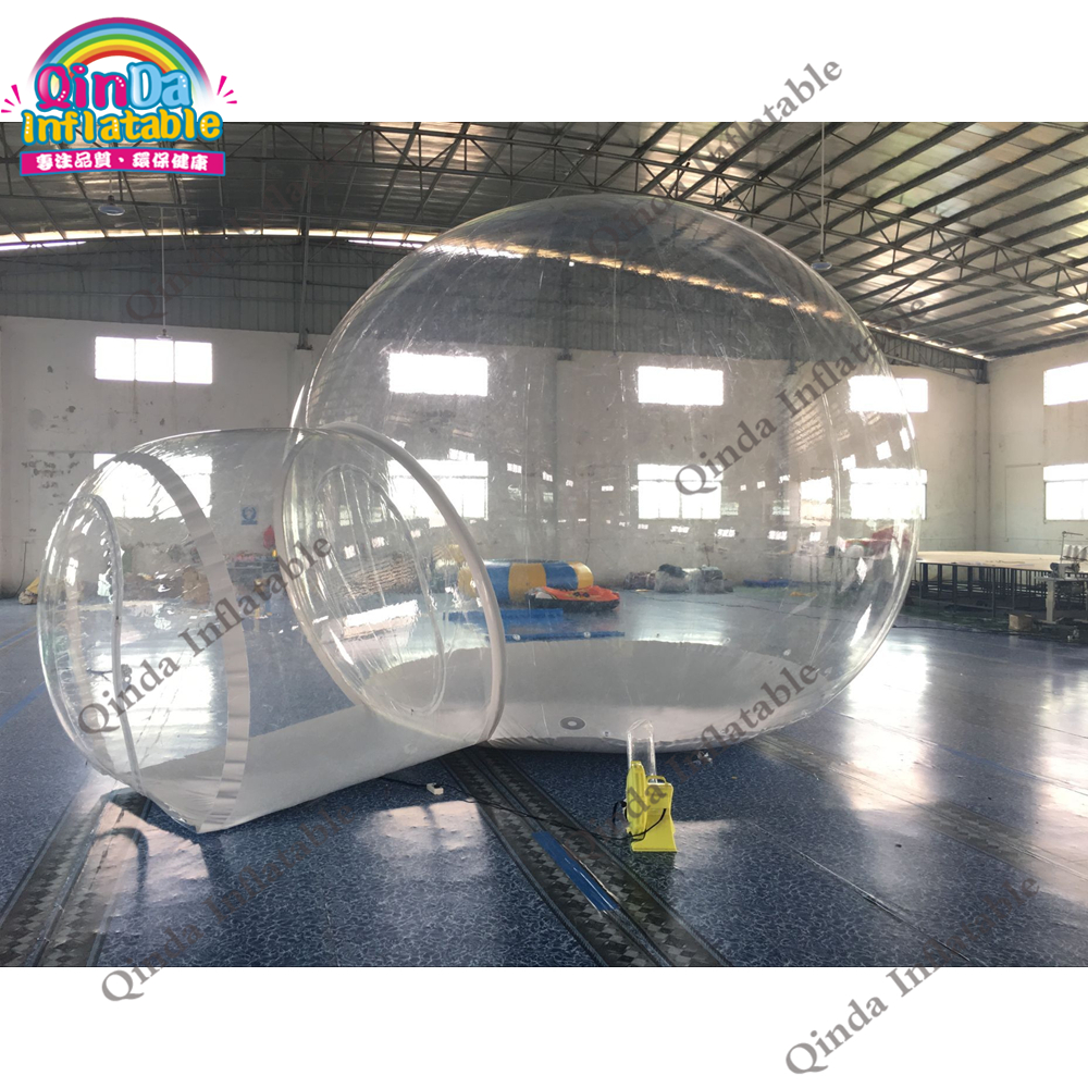 High quality inflatable clear pvc 4m dome outdoor transparent inflatable camping bubble tent factory price hot selling outdoor party event waterproof clear dome tent inflatable transparent bubble tent for camping