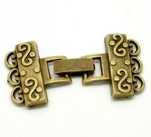 DoreenBeads Retail 5 Sets Antique Bronze End Caps for Bracelets/Necklace DIY Crafts Jewelry Making Findings 4.6×2.3cm 2016 New
