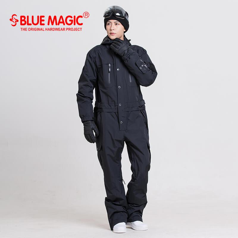 56cce566230 Dropwow blue magic waterproof snowboarding one piece skiing jumpsuit ...