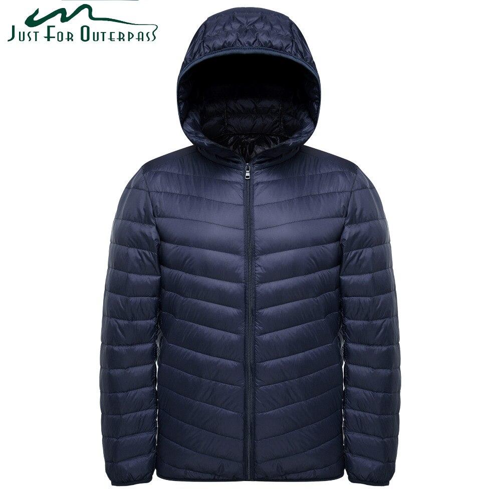 2018 Новая мода ультра легкая зимняя куртка-пуховик Для мужчин Демисезонный с капюшоном Водонепроницаемый Пуховики и парки для мужчин мужской Повседневное Зимнее теплое длинное пальто
