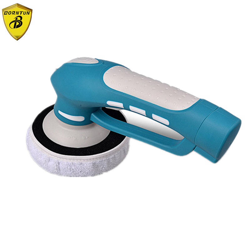 Borntun Electric Rechargeable Car Polisher Machine Automobile Leather Waxer Buffer Multi-functional Polishing Cleaning Furniture car wax wash cleaning polishing expanding sponge pad yellow