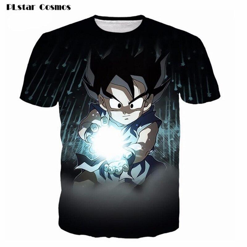 PLstar Cosmos Dragon Ball Super Z 3D Impression T-shirt Goku Super Saiyan T-shirt Casual Japonais Populaire Anime t-shirt Hommes/Femmes Tee