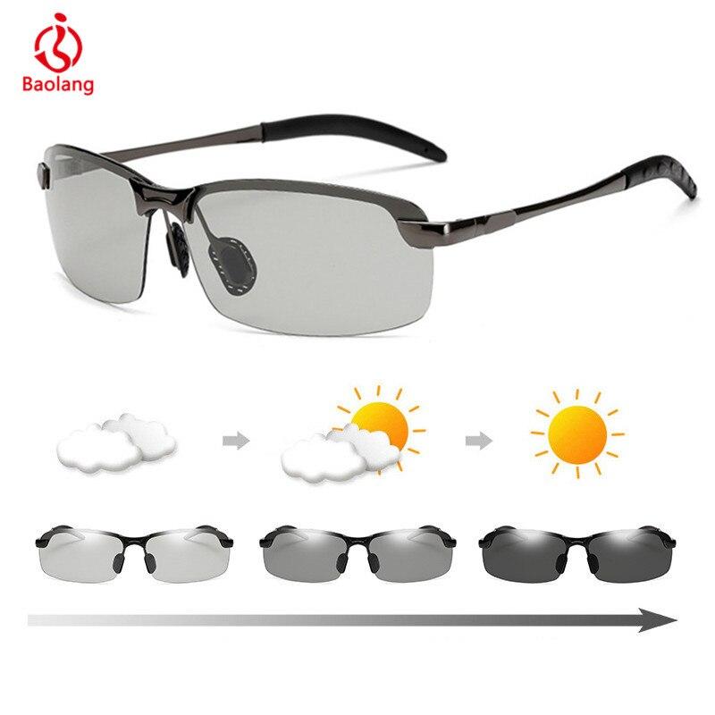 Photochromic Sunglasses Men Polarized Chameleon Glasses Male Change Color Sun Glasses Day Night Vision Driving Anti-glare Goggle