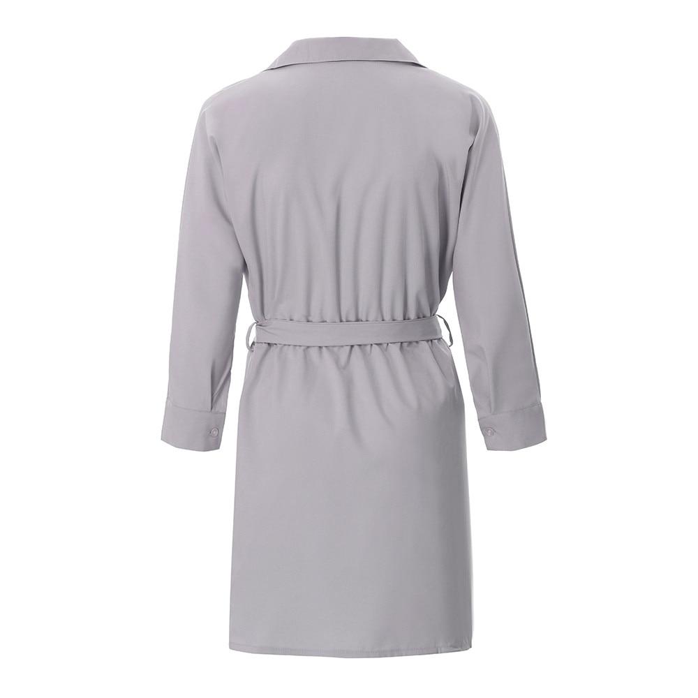 HTB18yvBatzvK1RkSnfoq6zMwVXaf Shirt Fashion Summer Dress Women Autumn Dress Long Sleeve Turn-Down Collar T Shirt Dress 4 Colour Casual Mini Office Dress