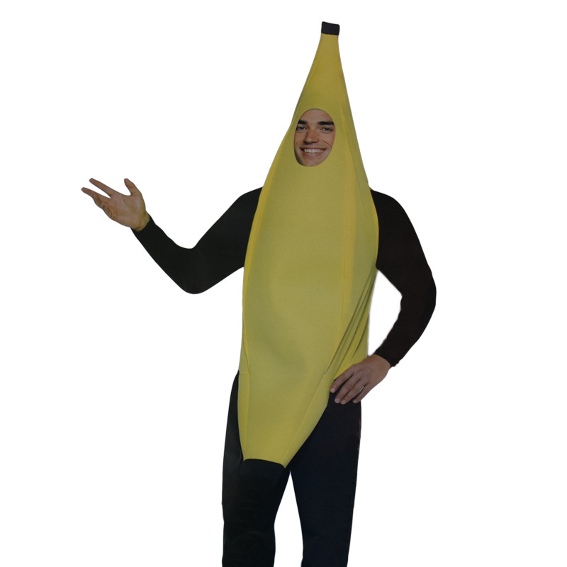 2017free shipping men cosplay adult fancy dress funny sexy banana costume novelty halloween christmas carnival party - Banana Costume Halloween