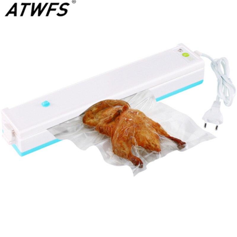 Hogar sellador al vacío portátil del vacío de alimentos máquina de envasado al vacío máquina de sellado con 15 piezas envío