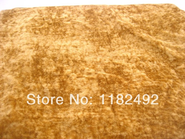 Gold Crushed Velvet Fabric Craft Upholstery Chenille Stretch Velour Cushion Sofa Curtain Wall Paper