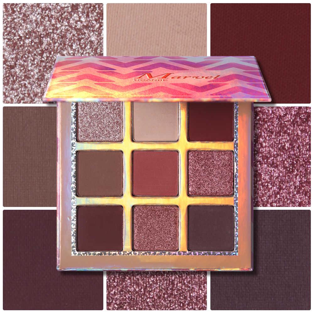 Ucanbe Merek Shimmer Matte Eyeshadow Palet Make Up 9 Warna Hologram Nude Glow Pigmen Eye Shadow Tahan Lama Kosmetik Set