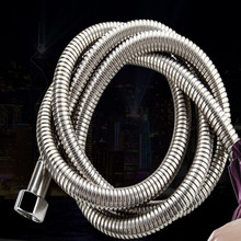 wholesale explosion-proof shower hose silicone pipe outside stainless steel G1/2 joint 5pcs/lot free shipping