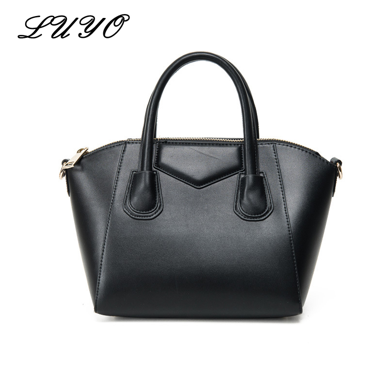 LUYO New Arrival Trapeze Smiley High Quality Leather Tote Bag Luxury Handbags Women Bags Designer Celing Shoulder Bags Female 2016 new women handbag vintage woman smiley bag designer leather hand bags women s shoulder bag brand high quality tote bag se21