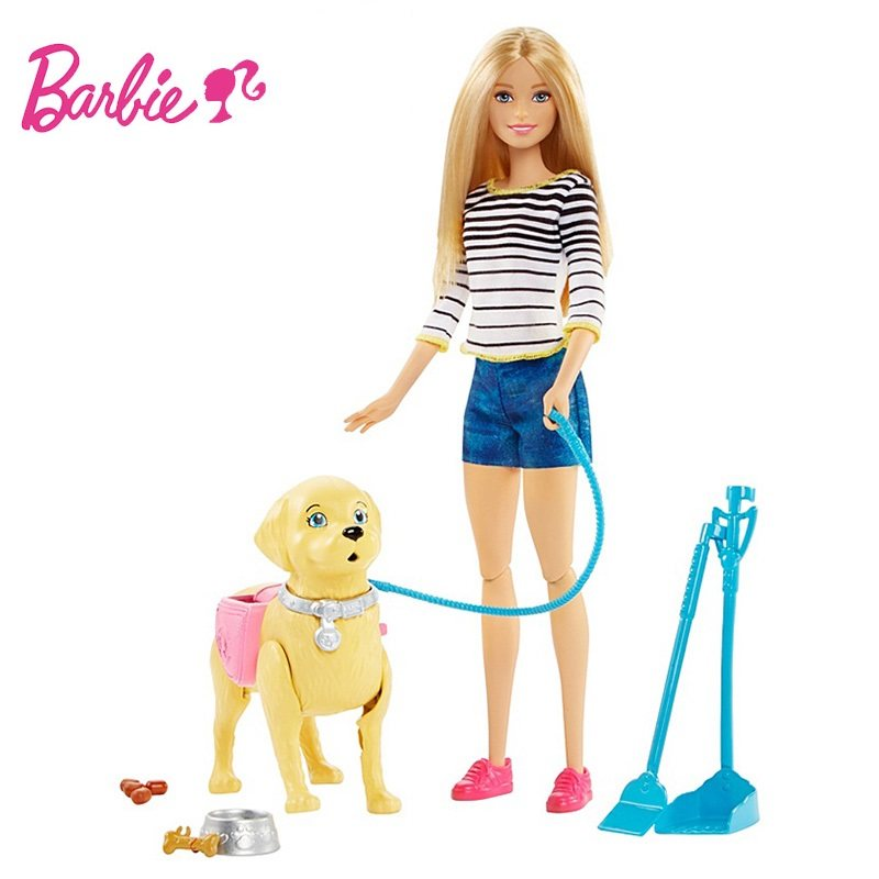 Original Barbie Doll Dog pet SetReborn Baby dolls Toys Hatching dolls Boneca Fashionista Gir Princess toys for children Gift DWJ original barbie dolls skipper dolphin magic adventure doll with clothin babies boneca brinquedos toys for children birthday gift