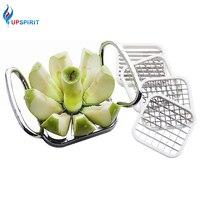 Upspirit Stainless Steel Apple Cutter Slicer Vegetable Fruit Shredders Potato Chips Cutter Manual Strip Chopper Kitchen