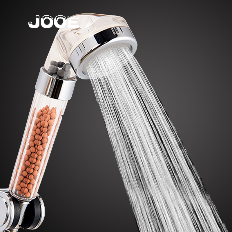 Jooe SPA Shower Heads Negative Ion Round ABS Handheld Water Saving  ShowerHead 2016 New Home Hotel