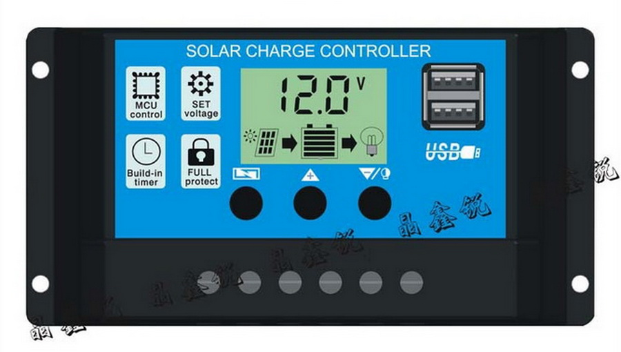 by dhl 50pcs practical 24V 12V Auto Solar Panel Battery Charge Controller 30A 20A 10A PWM