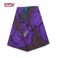 2019 Fashion High Quality new wax 100% Cotton new purple wax African Fabric Batik Fabrics for Africa Clothing 24FS1181