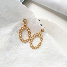 Fashion Long Geometric Drop Earrings Luxury Gold Silver Color Rectangle Rhinestone Earring for Women Party Jewelry Gift цена и фото