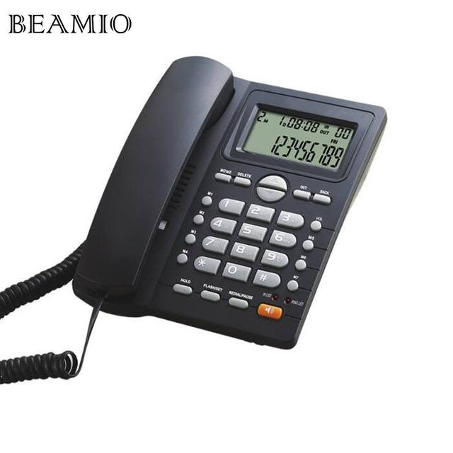 Dtmf Fsk Call Id Handsfree Landline Telephone Without Battery Dual Interface Fixed Phone For Home