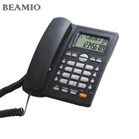 English Versio DTMF FSK Call ID Handsfree Landline Telephone Without Battery Dual Interface Fixed Phone For