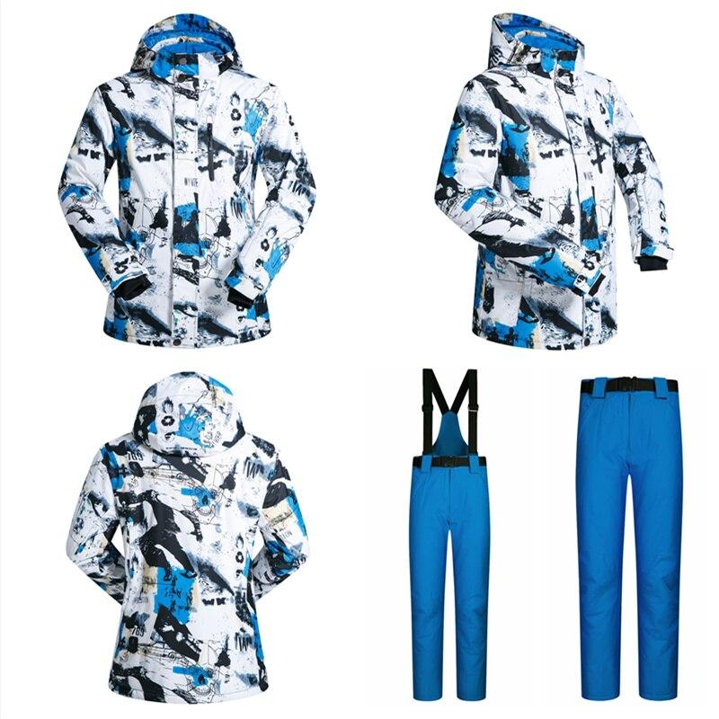 RAY GRACE veste de Ski hommes vêtements d'hiver homme veste de Snowboard pantalon costume imperméable thermique respirant professionnel neige ensemble - 3