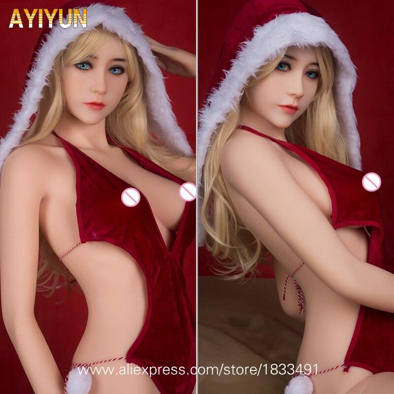 AYIYUN Réaliste Solide Silicone Poupée De Sexe avec Squelette En Métal pour Les Hommes Masturbation, pleine Grandeur Poupée D'amour Sexy Jouets Oral Anal Sexe