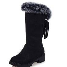 Low heels 4 cm mujer Runde Zehe frau party schuhe Quaste Nubukleder flock leder stiefeletten Quaste Damen schuhe frau