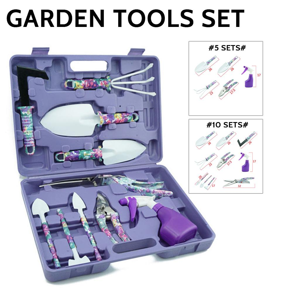 Garden Tools Set  5 /10  Lightweight Gardening Tools Kit Non-slip Handle Garden Hand Tools Gifts Garden Tools Weeding Digging