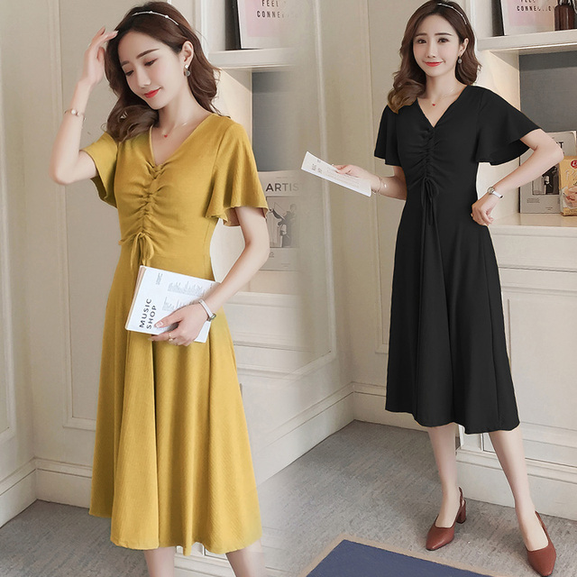 beba8d9cf56 Maternity Dress Summer Wear 2018 New Fashion Premama Dresses for Pregnant  Wome Pregnancy Clothing Cotton Maternidad