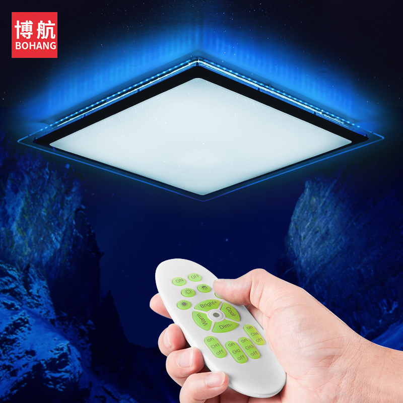 BOHANG Modern LED Ceiling Lights 2.4G RF 60W RGB lighting Remote Control Dimmable smart Ceiling lamp For Living room Bedroom