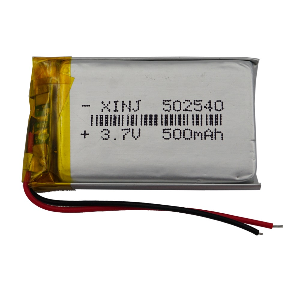 XINJ <font><b>3.7V</b></font> <font><b>500mAh</b></font> Lithium Polymer <font><b>Battery</b></font> Accumulator <font><b>Li</b></font> ion <font><b>li</b></font>-<font><b>po</b></font> cell 502540 For MP4 E-book Driving Telephone watches Tablet PC image
